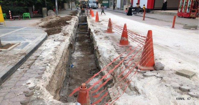 Kızıltepe'de tamamlanan yolda yine doğalgaz çalışması yapıldı